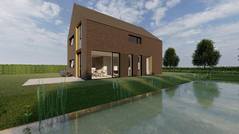 Studio voor Bouwkunst - moderne monoliet bakstenen woning - Skoatterwald, Heerenveen