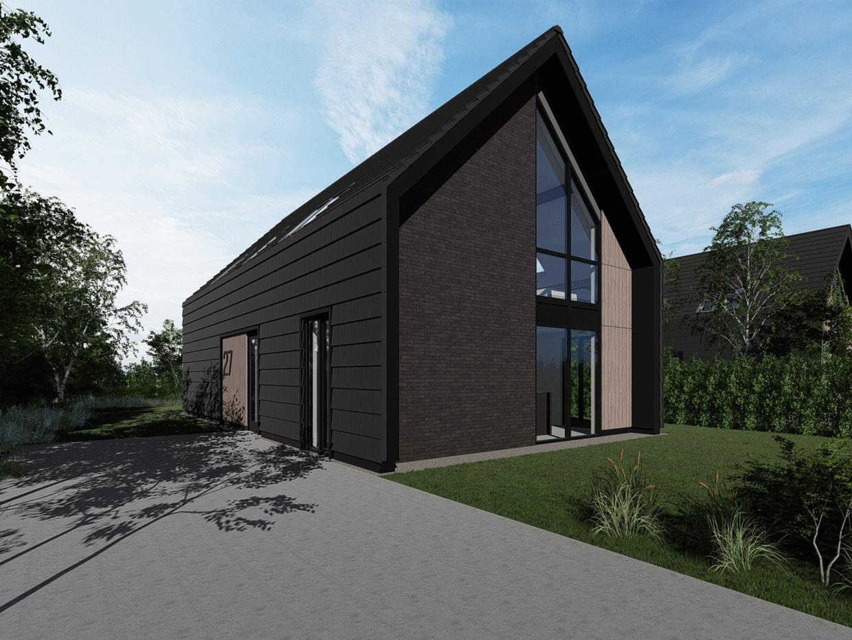 Studio voor Bouwkunst - moderne schuurwoning met vide in Kingspan TEK - Berggierslanden, Meppel